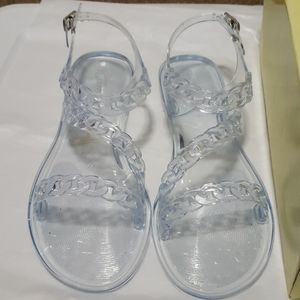 NIB-Forever Gracious-17 Chain Jelly Sandals:9